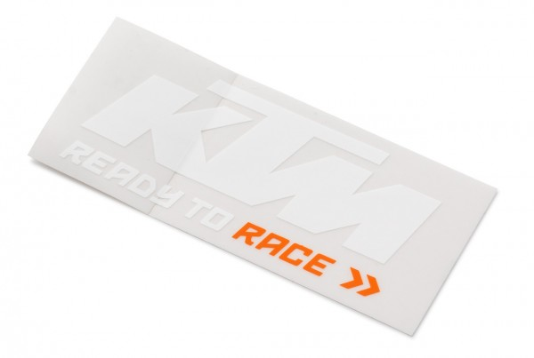 LOGO STICKER WHITE/ORANGE